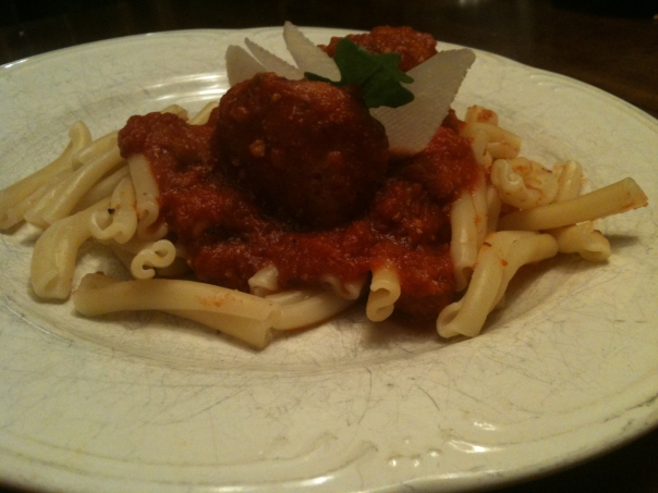 6 Minute Meatball in Marinara with Cavatelli