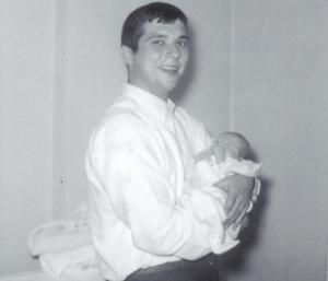 First-time Dad holding Me.  May 1969.  206 Norwood