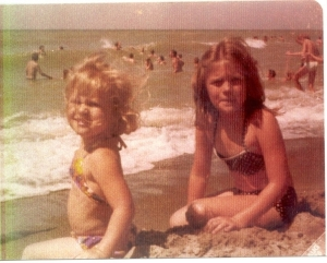 My Sister & I.         August of 1975, Panama City