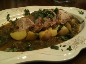 Tomatillo-braised Pork with Red Potatoes