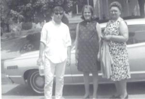 Top Gun, Mom-to-be with Me, and Gramma Z. Summer of 1969.  Richmond.