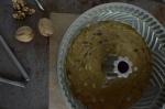 Finished Cake Batter in FlutedPan