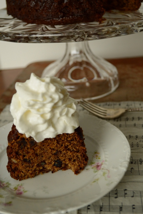 Irish Date Cake with Whipping Cream